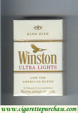 Discount Winston Ultra Lights cigarettes hard box