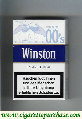 Discount Winston collection version Balanced Blue 00s cigarettes hard box