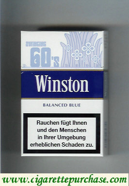 Discount Winston collection version Balanced Blue 60s cigarettes hard box