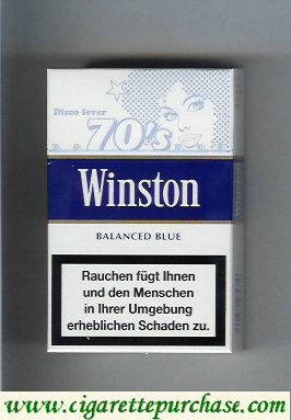 Discount Winston collection version Balanced Blue 70s cigarettes hard box