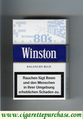 Discount Winston collection version Balanced Blue 80s cigarettes hard box