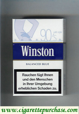 Discount Winston collection version Balanced Blue 90s cigarettes hard box