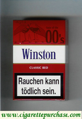Discount Winston collection version Classic Red 00s cigarettes hard box