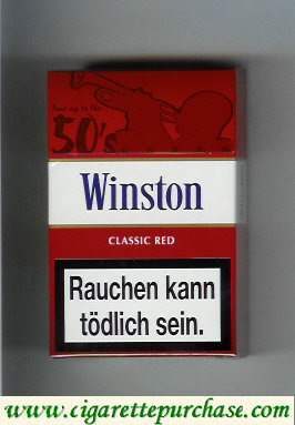 Discount Winston collection version Classic Red 50s cigarettes hard box