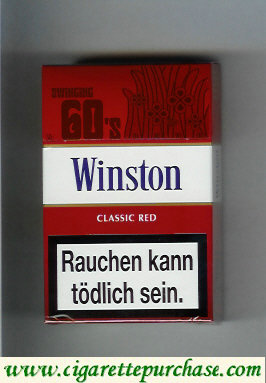 Discount Winston collection version Classic Red 60s cigarettes hard box