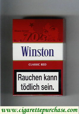 Discount Winston collection version Classic Red 70s cigarettes hard box