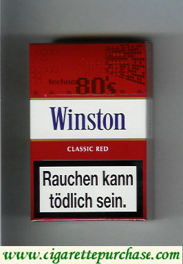 Discount Winston collection version Classic Red 80s cigarettes hard box