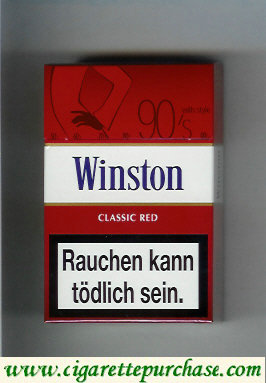 Discount Winston collection version Classic Red 90s cigarettes hard box