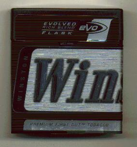 Discount Winston eVo Cigarettes Evolved Rich blend Plastic Flask