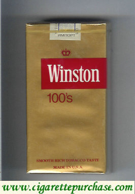 Discount Winston gold 100s cigarettes soft box