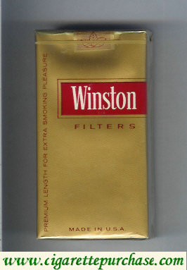 Discount Winston gold Filters 100s cigarettes soft box