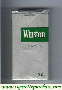 Discount Winston silver Menthol 100s cigarettes soft box