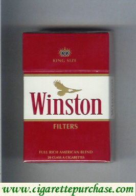 Discount Winston with eagle from above Filters on red cigarettes hard box