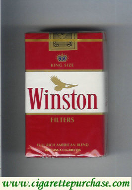 Discount Winston with eagle from above Filters on red cigarettes soft box