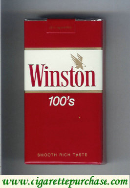 Discount Winston with eagle from above in the right 100s cigarettes soft box