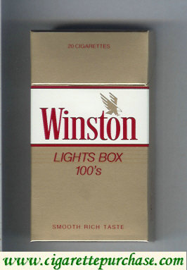 Discount Winston with eagle from above in the right Lights 100s cigarettes hard box