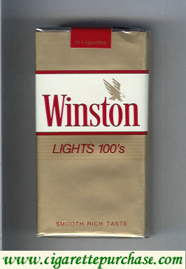 Discount Winston with eagle from above in the right Lights 100s cigarettes soft box