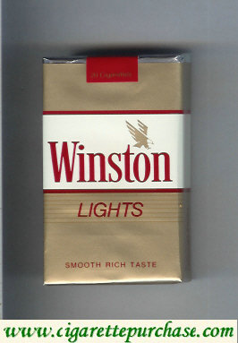 Discount Winston with eagle from above in the right Lights cigarettes soft box