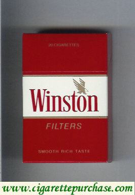 Discount Winston with eagle from above in the right cigarettes hard box