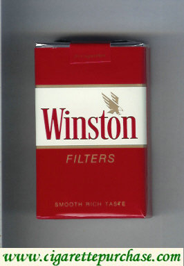 Discount Winston with eagle from above in the right cigarettes soft box