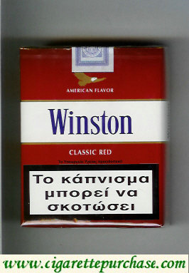 Discount Winston with eagle from above on the top American Flavor Classic Red 25s cigarettes soft box