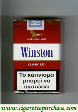 Discount Winston with eagle from above on the top American Flavor Classic Red cigarettes soft box