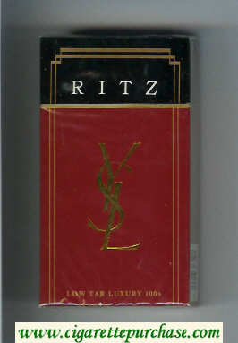 YSL Ritz Luxury 100s cigarettes hard box