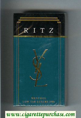 YSL Ritz Menthol 100s cigarettes hard box