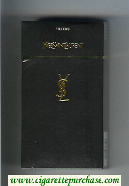 YSL Yves Saint Laurent Filters 100s cigarettes black hard box