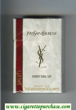 YSL Yves Saint Laurent Lights Luxury cigarettes hard box