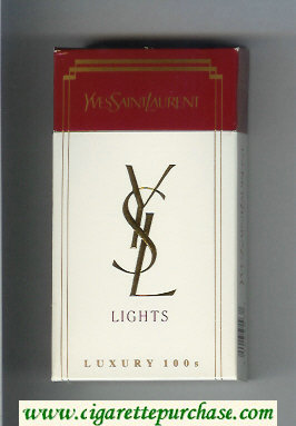 YSL Yves Saint Laurent Lights Luxury 100s cigarettes hard box