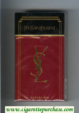 YSL Yves Saint Laurent Luxury 100s cigarettes hard box