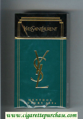 YSL Yves Saint Laurent Menthol Luxury 100s cigarettes hard box