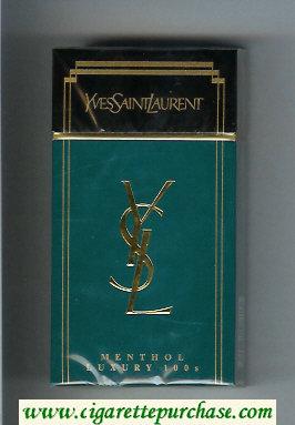 Discount YSL Yves Saint Laurent Menthol Luxury 100s cigarettes hard box