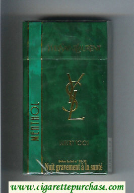 YSL Yves Saint Laurent Menthol Luxury 100s hard box cigarettes