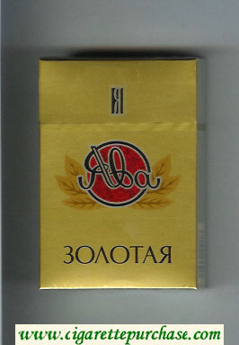 Yava Zolotaya cigarettes hard box