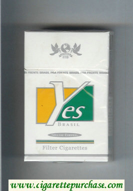 Yes Brasil Special Edition hard box cigarettes