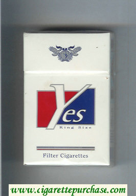 Yes King Size cigarettes hard box