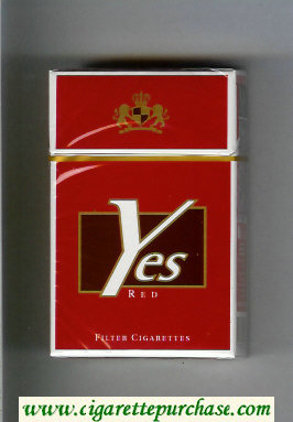 Yes Red cigarettes hard box