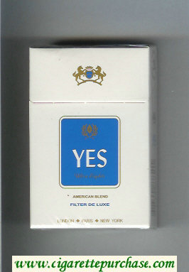 Yes Ultra Lights American Blend cigarettes hard box