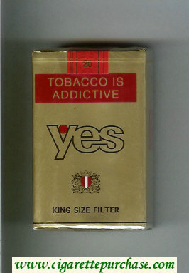 Yes cigarettes gold soft box