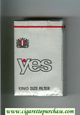 Yes cigarettes silver soft box
