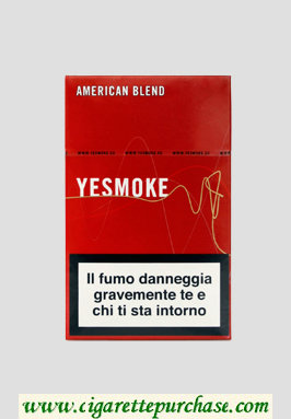 Yesmoke Red cigarettes hard box