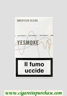 Yesmoke White cigarettes hard box