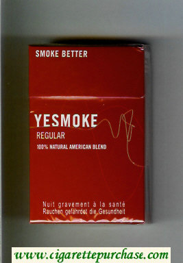 Yesmoke Regular cigarettes hard box