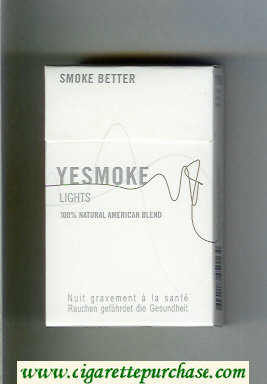 Yesmoke Lights cigarettes hard box