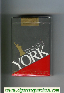 York soft box cigarettes