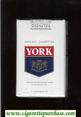 York King Size cigarettes soft box
