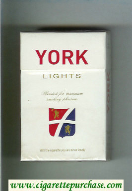 York Lights cigarettes hard box