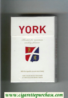 York cigarettes hard box